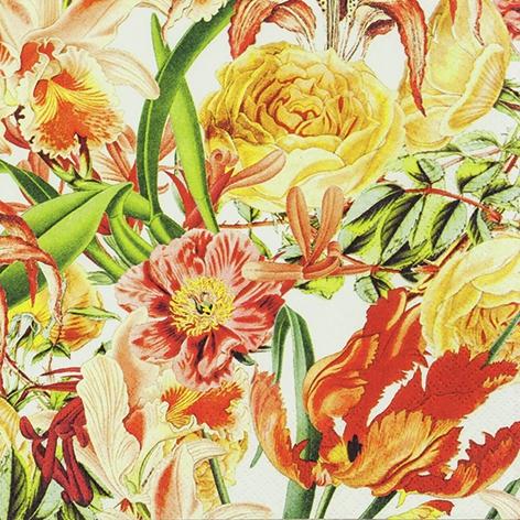 Servilletas 33x33 cm - Vibrant Flowers
