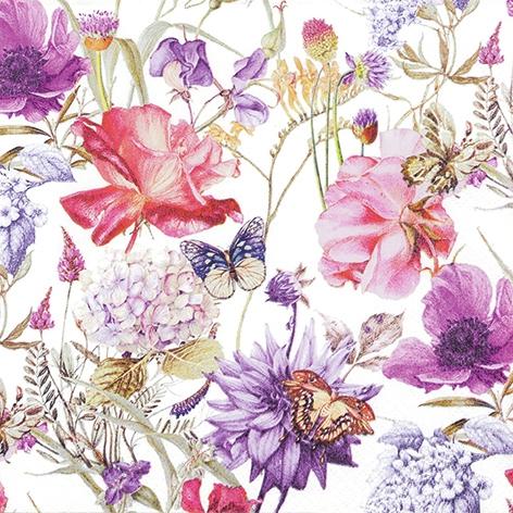 Napkins 33x33 cm - Floral Poem
