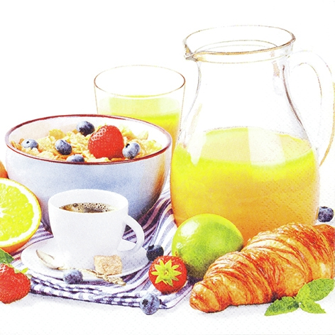 Napkins 33x33 cm - Delicious Breakfast