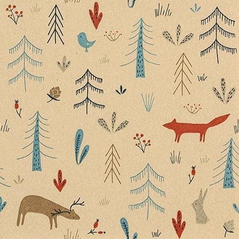 Servilletas 33x33 cm - Forest Animals