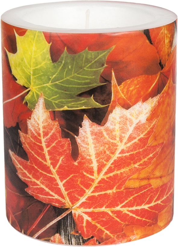 decorative candle - Maple Leaves 99 mm