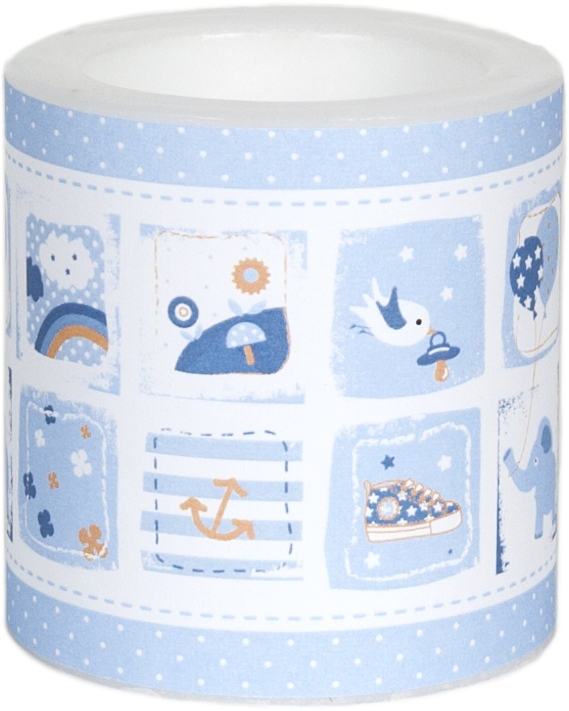 decorative candle - Little One blue