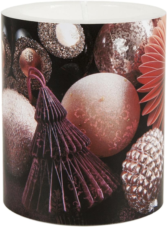 decorative candle - Mauve Baubles 99 mm