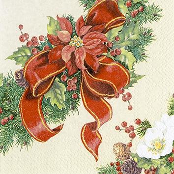 Napkins 25x25 cm - Christmas Wreath