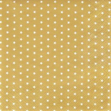 Napkins 25x25 cm - Mini Stars gold