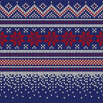 Napkins 25x25 cm - Knitted dark blue