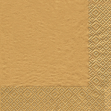 Napkins 25x25 cm - Uni gold