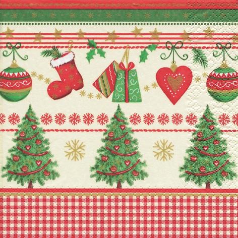Napkins 33x33 cm - Traditional Christmas