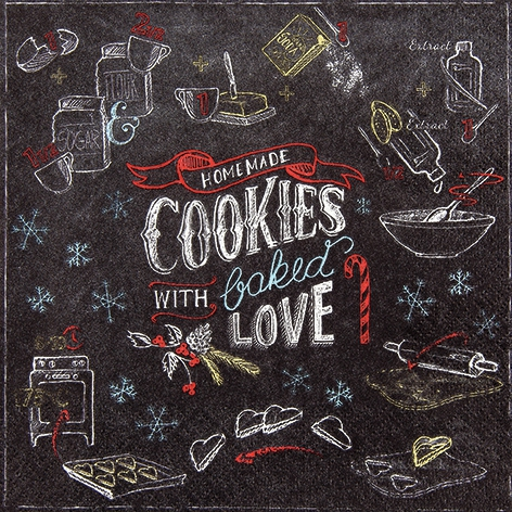 Napkins 33x33 cm - Homemade Cookies