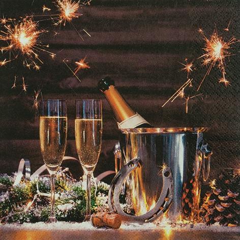 Napkins 33x33 cm - New Year?s Eve