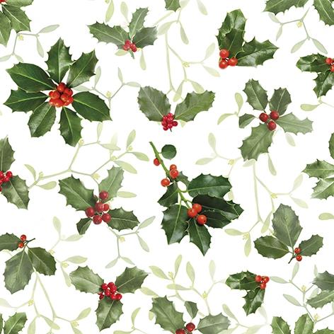 Napkins 33x33 cm - Ilex and Mistletoe