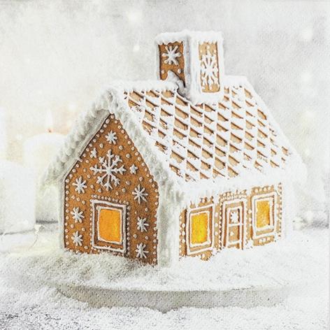 Napkins 33x33 cm - Gingerbread House