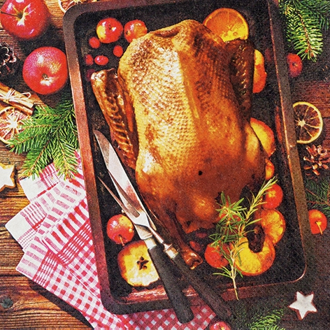 Servilletas 33x33 cm - Holiday Roast
