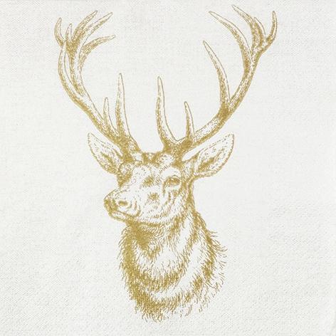 Napkins 33x33 cm - Classic Deer