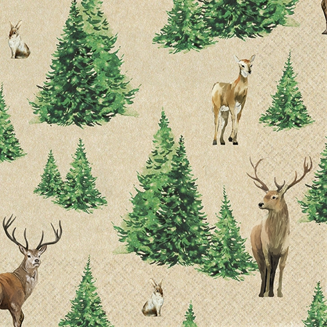 Servilletas 33x33 cm - Forest Glade
