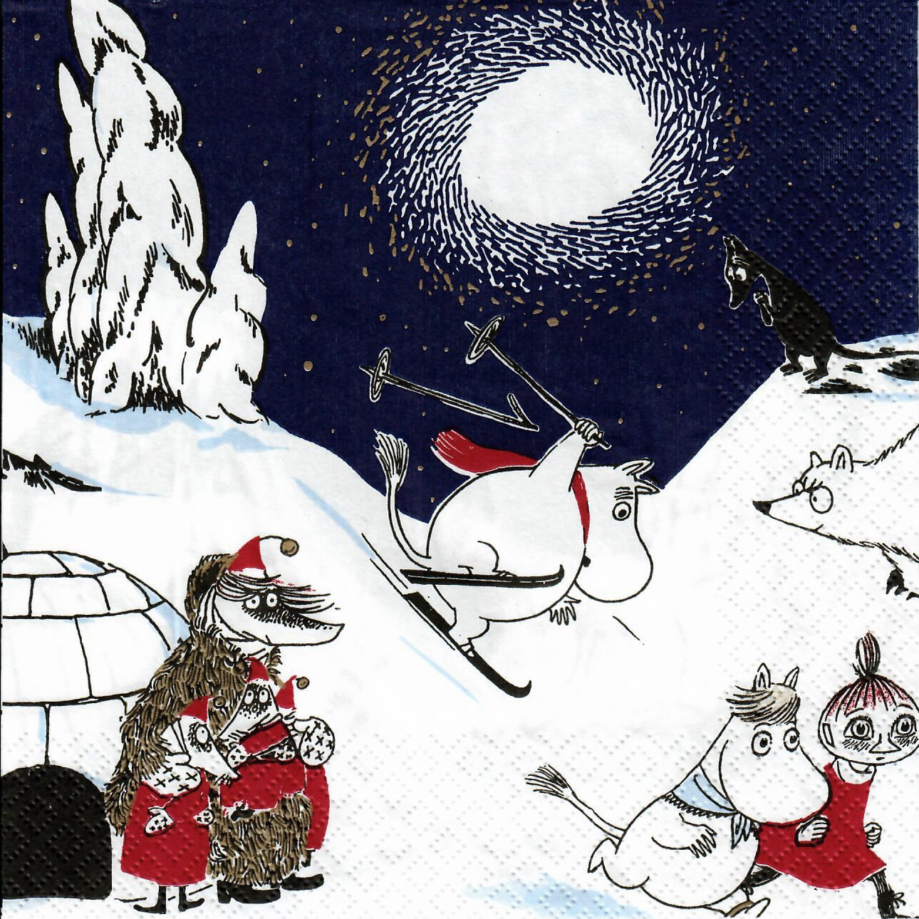 Servilletas 33x33 cm - Winter Moomin db
