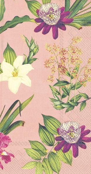 Buffet Servietten - FLOWERS OF PARADISE apricot