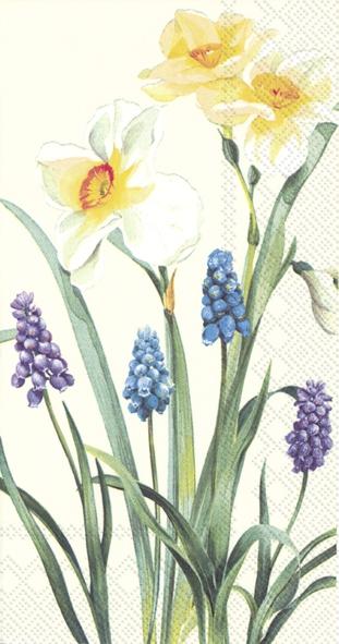 Servilletas de buffet - SPRING FLOWERS cream
