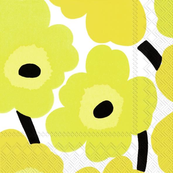 Servetten 25x25 cm - UNIKKO yellow