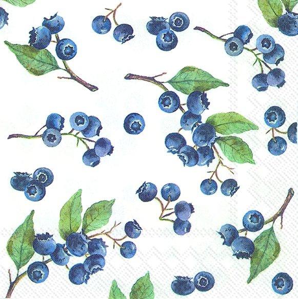 Napkins 25x25 cm - BLUEBERRIES