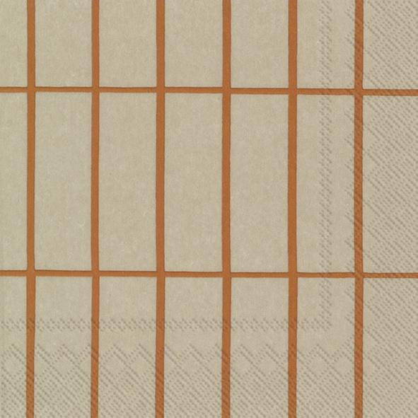 Napkins 25x25 cm - TIILISKIVI linen copper