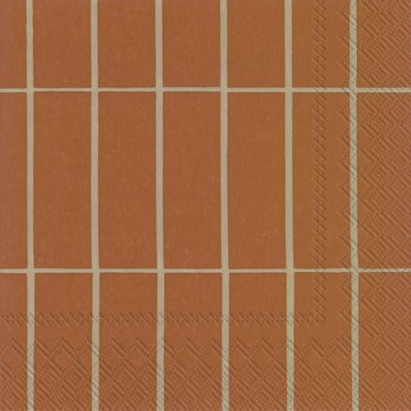 Napkins 25x25 cm - TIILISKIVI copper linen