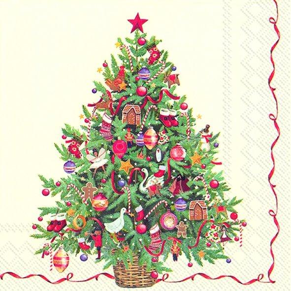 Napkins 25x25 cm - CHRISTMAS TREE