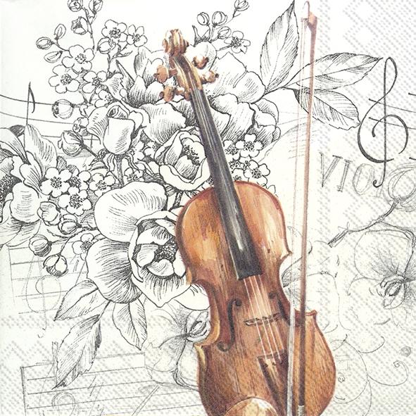 Servilletas 25x25 cm - BELLA MUSICA