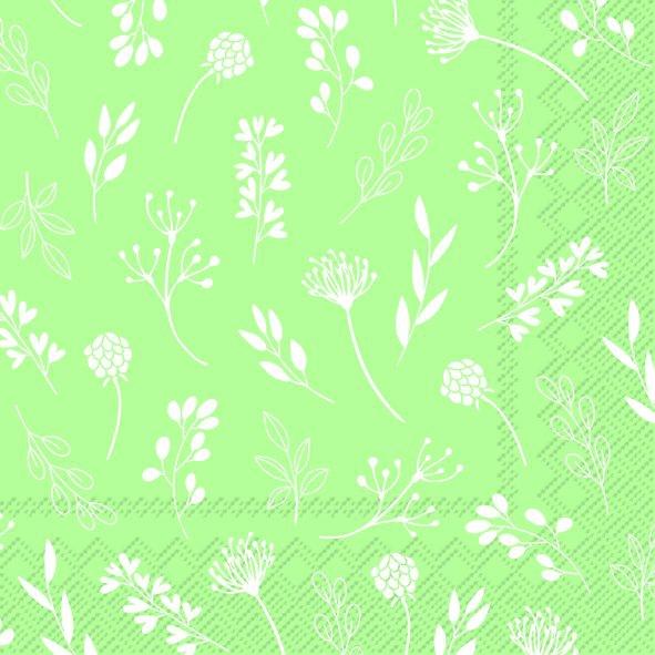 Serwetki 25x25 cm - TILDA light green