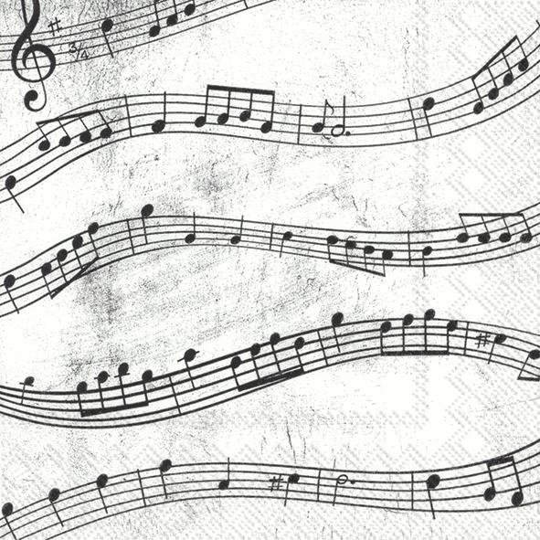 Napkins 25x25 cm - MUSIC NOTES