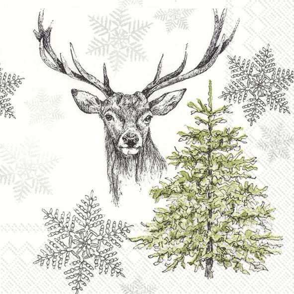 Napkins 25x25 cm - WINTER WILDLIFE