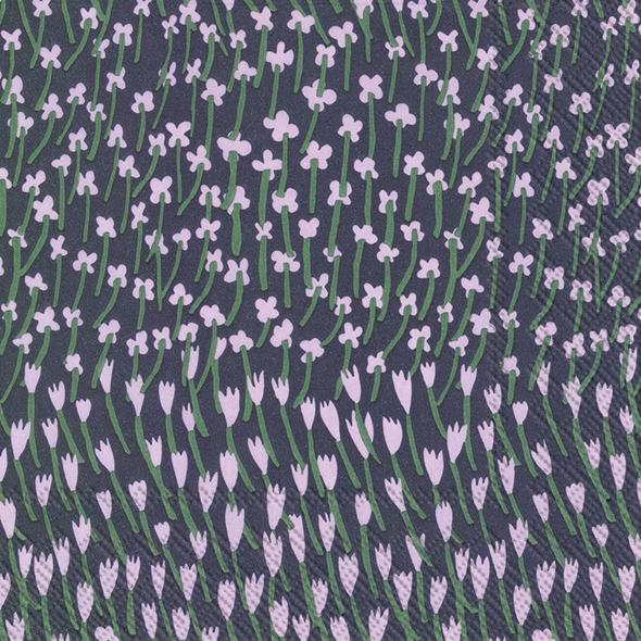 Napkins 25x25 cm - APILAINEN blue lilac