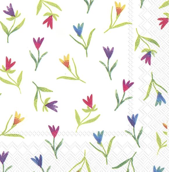 Servilletas 25x25 cm - COLOURFUL FLOWERS