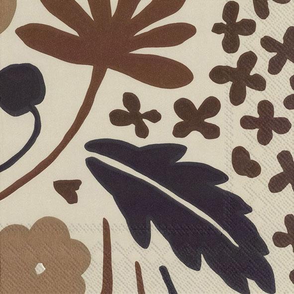 Napkins 25x25 cm - SUVI brown