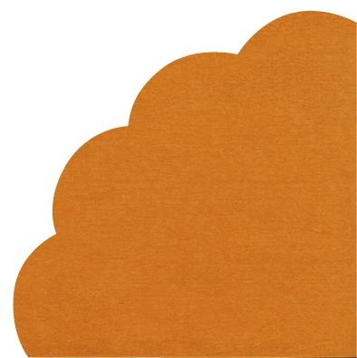 Napkins - Round - UNI orange