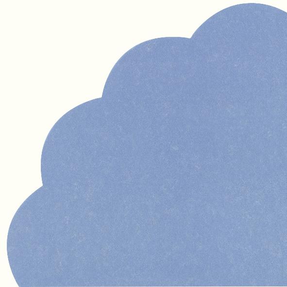 Napkins - Round - UNI blue grey