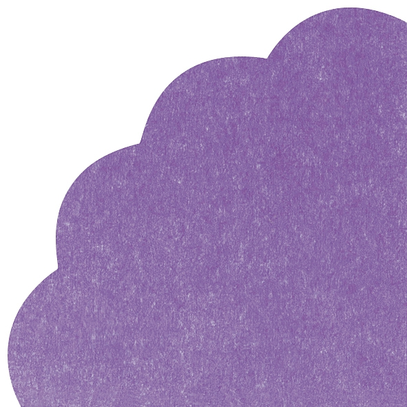 Napkins - Round - UNI purple
