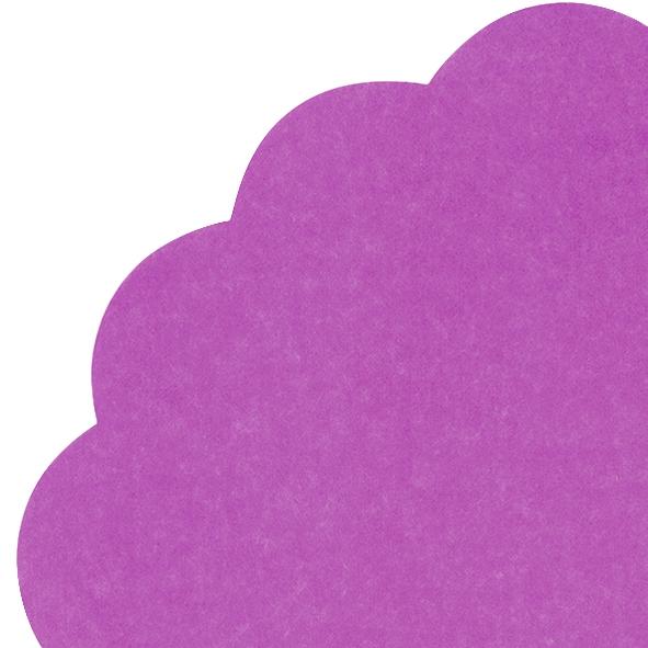 Napkins - Round - UNI dark purple