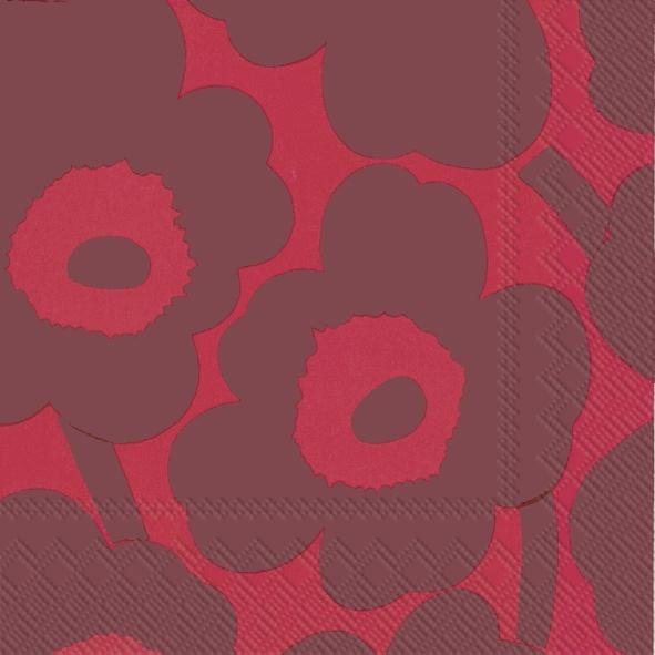 Napkins 33x33 cm - UNIKKO red red