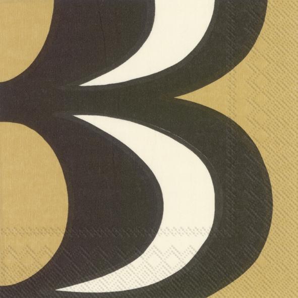 Napkins 33x33 cm - KAIVO black cream