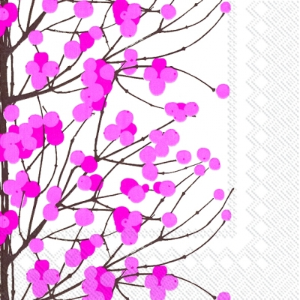Napkins 33x33 cm - LUMIMARJA white pink