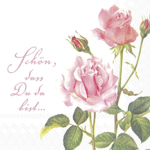 Napkins 33x33 cm - A ROSE FOR YOU