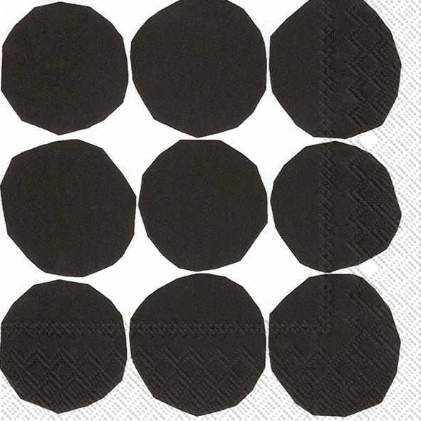 Napkins 33x33 cm - KIVET black white