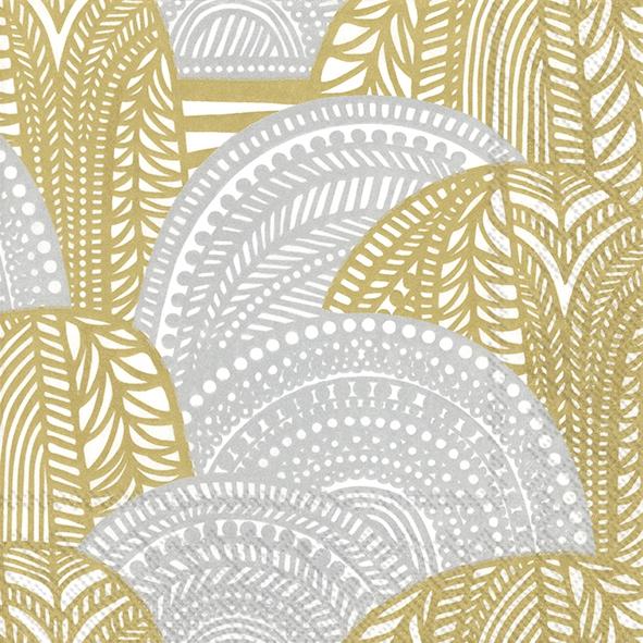 Napkins 33x33 cm - VUORILAAKSO gold silver