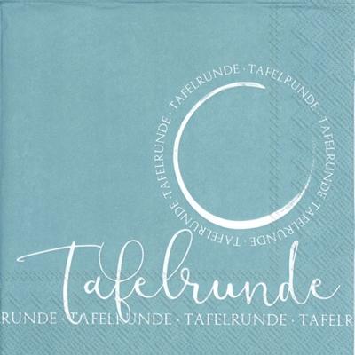 Napkins 33x33 cm - TAFELRUNDE turquoise