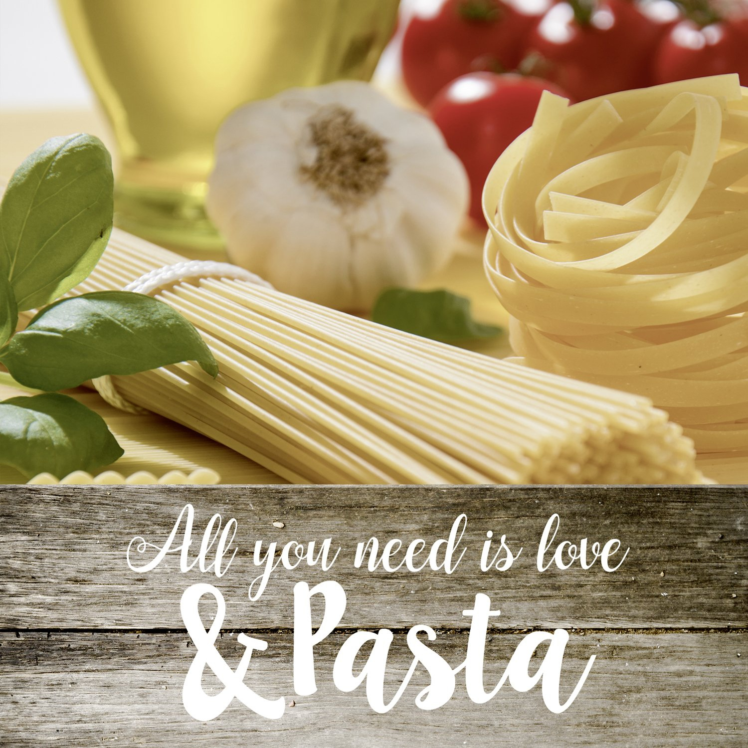 Napkins 33x33 cm - ALL YOU NEED IS LOVE & PASTA