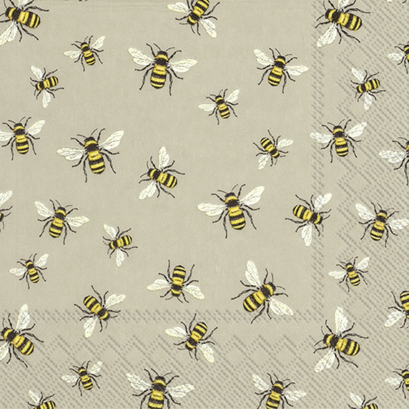 Serviettes 33x33 cm - LOVELY BEES linen