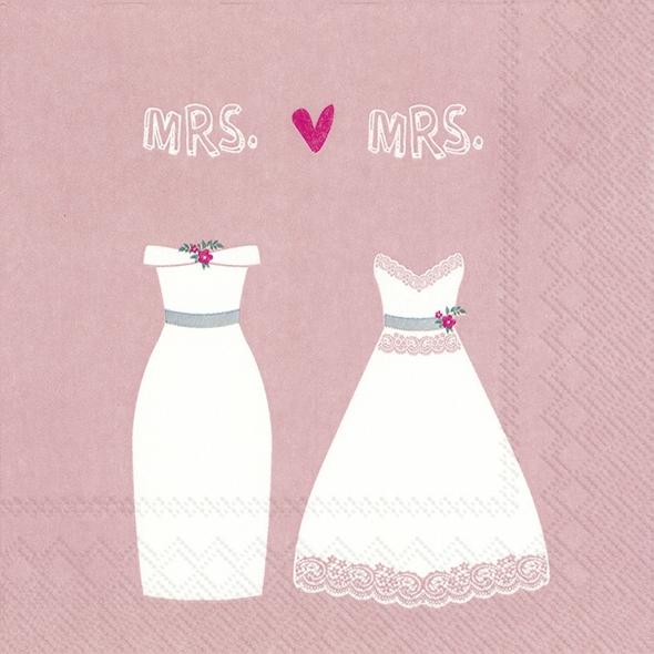 Салфетки 33x33 см - MRS. & MRS. rose