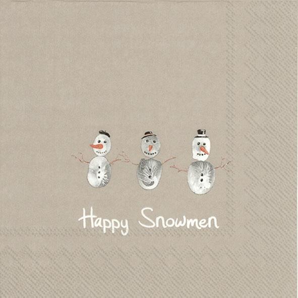 Servilletas 33x33 cm - HAPPY SNOWMEN linen