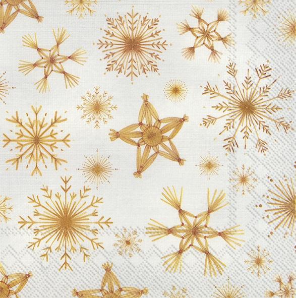 Napkins 33x33 cm - STRAW STARS linen